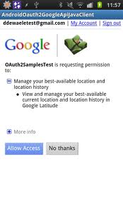 android oAuth